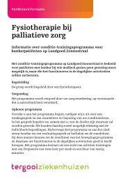 Fysiotherapie bij palliatieve zorg [153kb] Zonnestraal - Tergooi