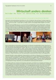 Wirtschaft anders denken - Goetheanum