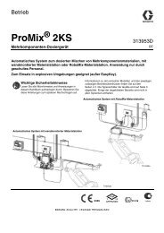 313953D, Operation Manual, for ProMix 2KS Automatic ... - Graco Inc.