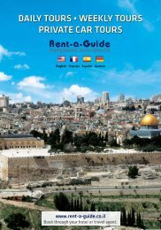 The Brochure - Israel Tours - Rent-a-Guide