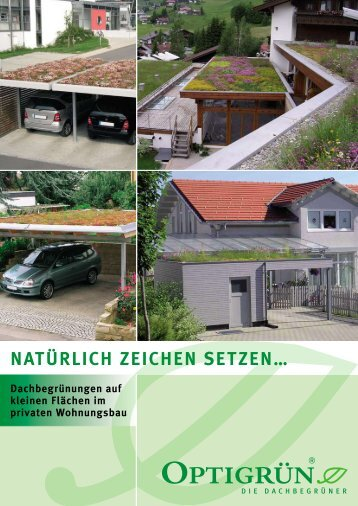 Privatkunden Prospekt - Dachbegrünung Ratgeber