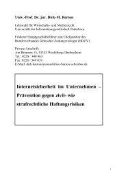 Internetsicherheit im Unternehmen – Prävention gegen zivil- wie ...