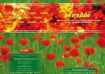 die neue umweltfreundliche Technologie in der Brandbekämpfung