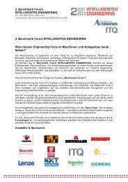 Programm 1 - 2. Benchmark Forum INTELLIGENTES ENGINEERING
