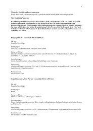 Modelle des Grundeinkommens - Forum Neue Politik der Arbeit