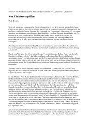 Interview im L'Osservatore Romano zur Seligsprechung von ...