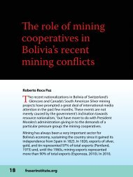 The role of mining cooperatives in Bolivia's recent ... - Fraser Institute