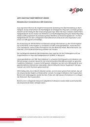 Nachhaltigkeitsbericht 2008/09 - Axpo