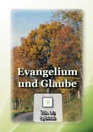 lesen - Evangelium und Glaube Hauptseite