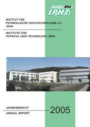 Annual Report 2005 - IPHT Jena