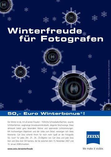 Winterfreude für Fotografen - Carl Zeiss