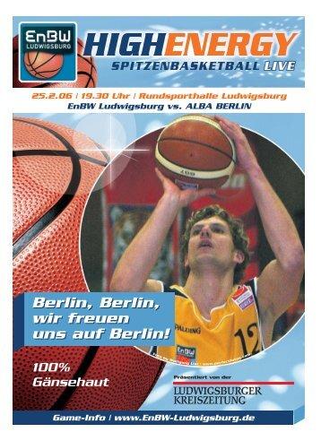 Berlin, Berlin, wir freuen uns auf Berlin! - Neckar RIESEN Ludwigsburg