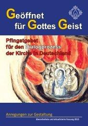 Arbeitshilfe zur Gestaltung des Pfingstgebetes - Pfingstgebet für den ...