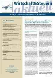 Wirtschaft&Steuern - Intecon Treuhand und Wirtschaftsberatung GmbH