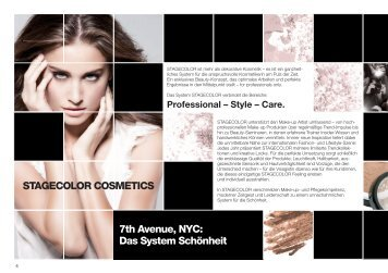 STAGECOLOR COSMETICS 7th Avenue, NYC: Das System Schönheit
