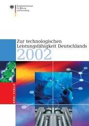 Zur technologischen Leistungsfähigkeit Deutschlands 2002, bmb+f