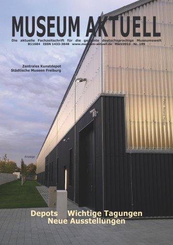 MUSEUM AKTUELL Depots Wichtige Tagungen Neue Ausstellungen ...