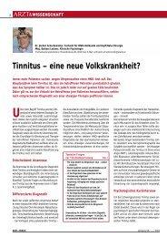 Tinnitus – Eine Neue Volkskrankheit? - Schachenreiter, Dr. med ...