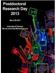 PDRD2013 print program.pdf - University of Colorado Denver
