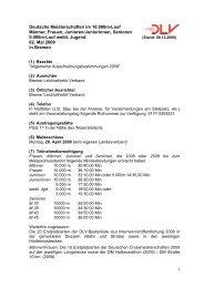 Deutsche Meisterschaften im 10.000m-Lauf Männer, Frauen ...