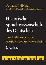 Historische Sprachwissenschaft des Deutschen - Die Onleihe