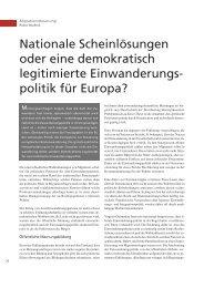 Nationale Scheinlösungen oder eine demokratisch ... - terra cognita