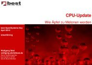 Cpu-Update - best Systeme Gmbh