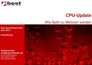 Cpu-Update - best Systeme Gmbh