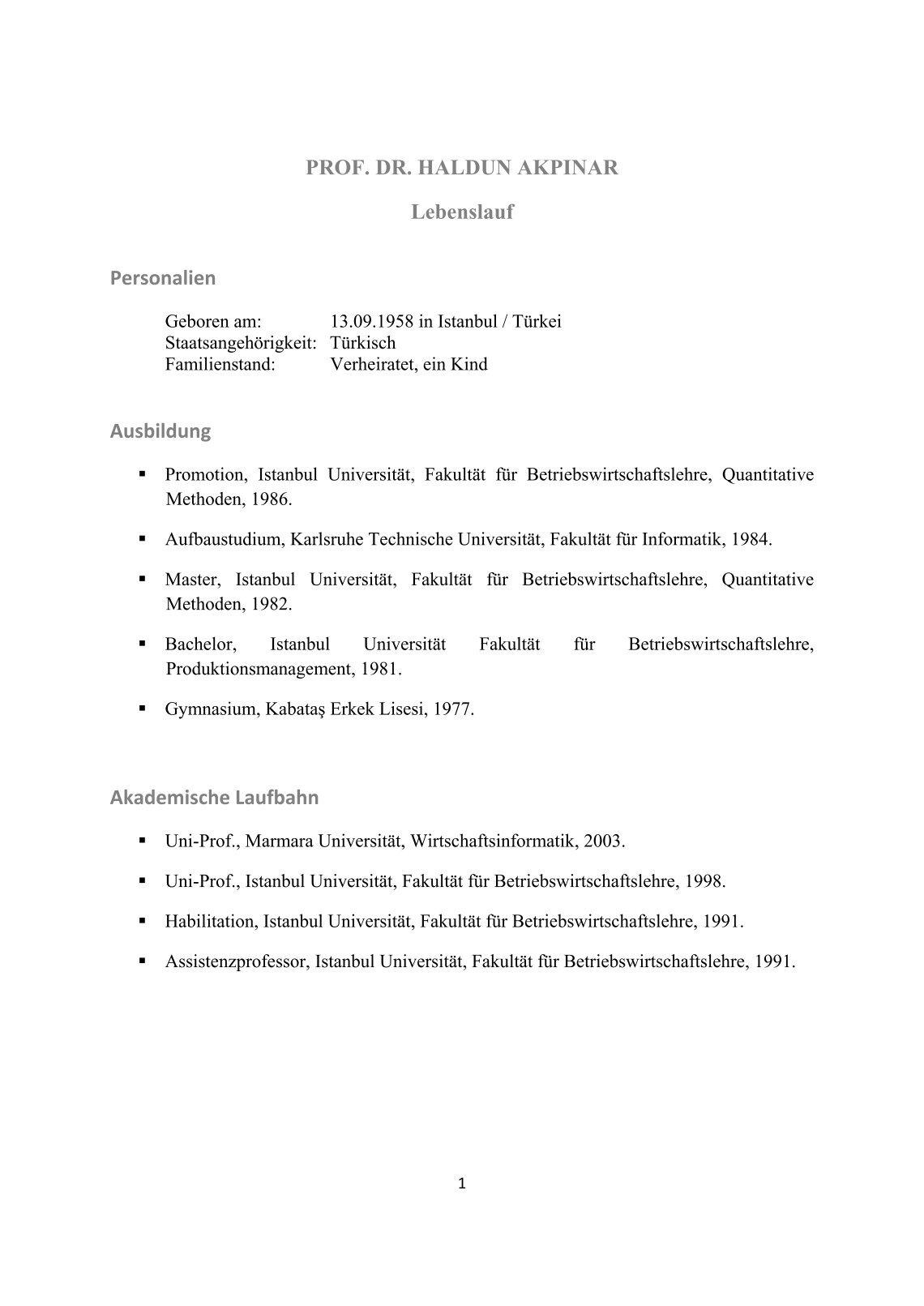Großartig Probe Akademischer Lebenslauf Professor Ideen - Entry ...