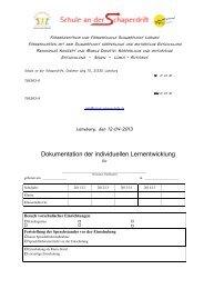Dokumentation der individuellen Lernentwicklung - Schule an der ...