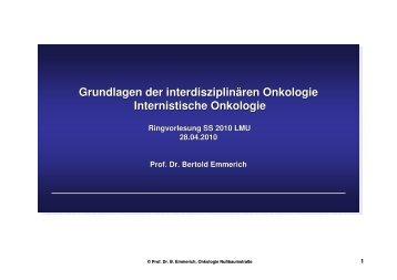 Prof. Dr. B. Emmerich_Vorlesung SS 2010
