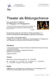 Theater als Bildungschance - Fortbildung