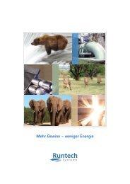 Mehr Gewinn – weniger Energie - Runtech Systems