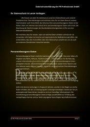 Ihr Datenschutz ist unser Anliegen ... - PR Professionals