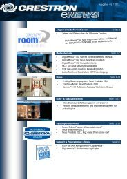 Ausgabe: 01 / 2011 Allgemeine Informationen Seite 2 ... - Crestron