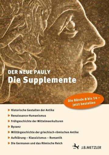 Prospekt zur 2.Staffel - J. B. Metzler Verlag