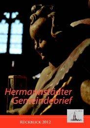 Jahreswechsel 2012 - Evangelische Kirche A.B. Hermannstadt