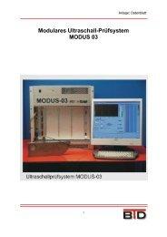 Modulares Ultraschall-Prüfsystem MODUS 03 - diatek.de