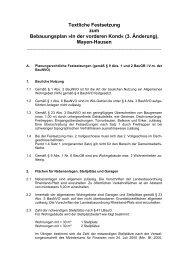 Textliche Festsetzung zum Bebauungsplan »In der ... - Stadt Mayen