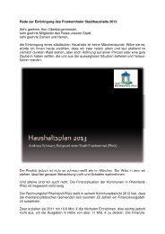 Haushaltsrede 2013 des Finanzdezernenten - Stadt Frankenthal