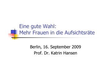 Hansen FIdARBerlin 2009 - FidAR eV – Die Initiative für mehr ...