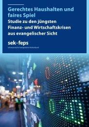 Gerechtes Haushalten und faires Spiel sek · feps - Schweizerischer ...