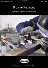 30 Jahre Siegmund - LWB WeldTech AG