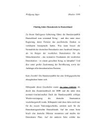 Fünfzig Jahre Demokratie in Deutschland - FreiDok
