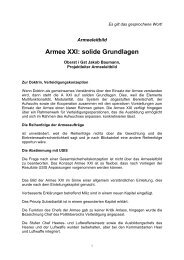 Armeeleitbild. Armee XXI - Schweizer Parlament