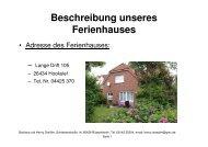 Beschreibung unseres Ferienhauses - Unser Ferienhaus an der ...