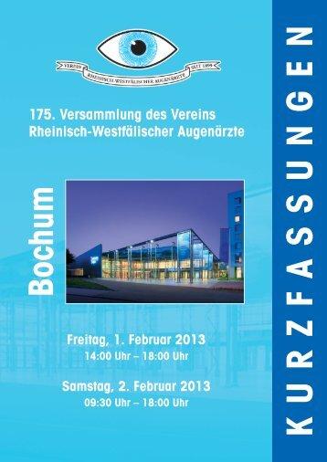 Abstract der 175. Versammlung in Bochum (2013) - RWA Augen