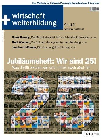 Jubiläumsheft: Wir sind 25! - Haufe.de