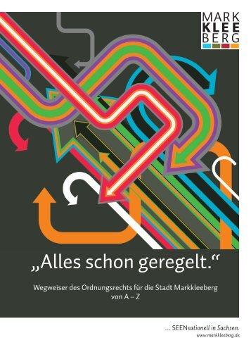 "Wegweiser ""Alles schon geregelt"". - Stadt Markkleeberg"