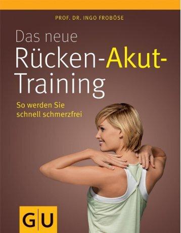 Leseprobe zum Titel: Das neue Rücken-Akut-Training - Die Onleihe